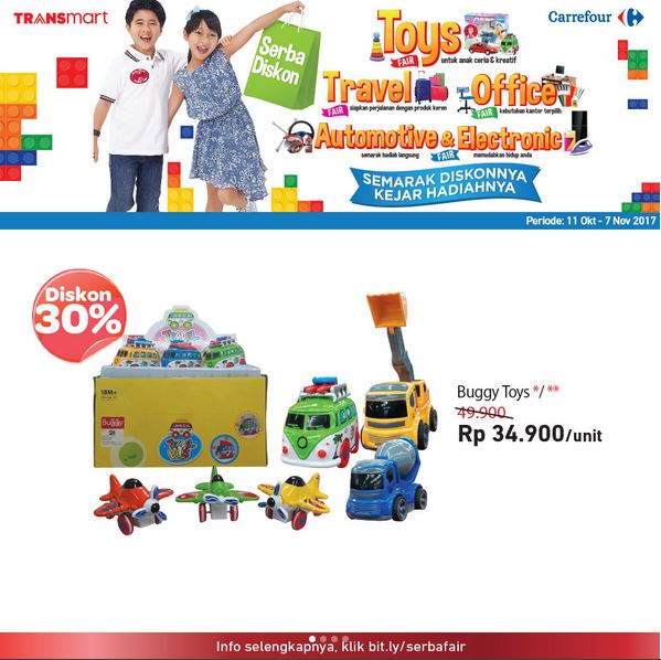 Discount 30% Buggy Toys at Transmart Carrefour