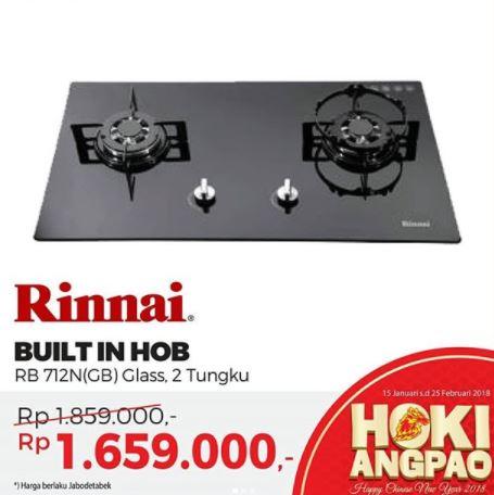 Special Price Promo Rinnai Built In Hob at Mitra10