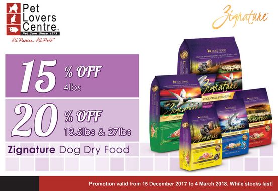 Zignature Dog Dry Food Promotion at Pet Lovers Centre