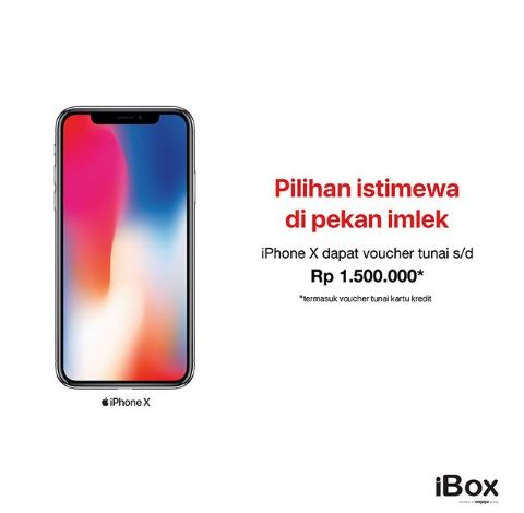 Get iPhone X Voucher Rp 1.500.000 from iBox