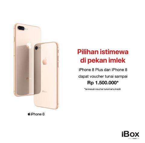 Get iPhone 8 with 1.500.000 Cash Voucher from iBox