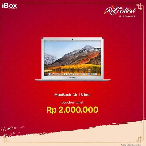 Get Macbook Air with Rp 2,000,000 Cash Voucher from iBox