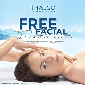 Free Facial Treatment from Thalgo at SOGO Supermal Pakuwon Indah