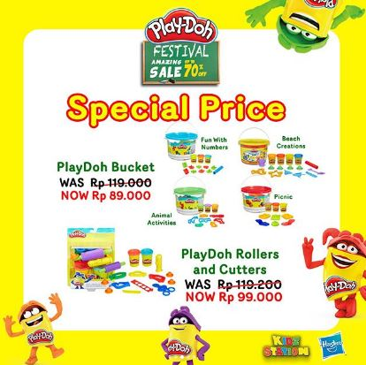 Special Price Play Doh Bucket & Rollers from Kidz Station