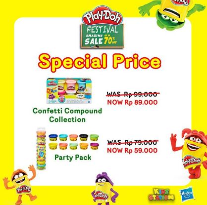 Special Price Confetti Compound Colletion & Party Pack PlayDoh from Kidz Station