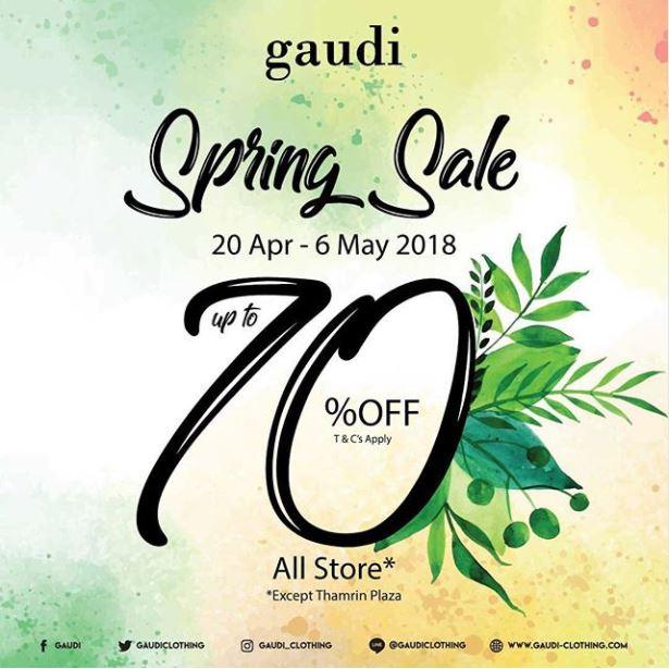 Spring Sale Hingga 70% dari Gaudi Store
