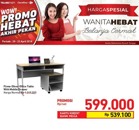 Special Price Rp 599.000  Firme Oliver Office Table at Transmart Carrefour