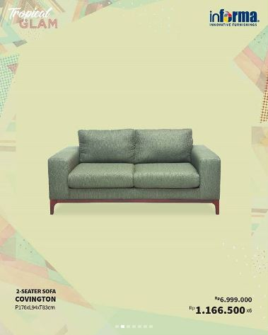 Special Price 2 Seater Sofa Covington Only Rp 6 999 000 From Informa