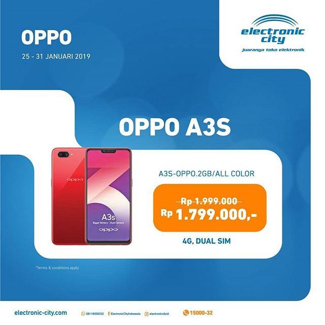 Super Promo Handphone Oppo A3s At Electronic City Lippo Mall Puri